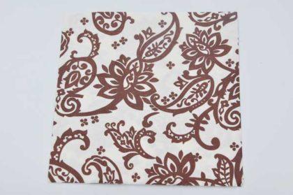 Serviette 2-lagig 33x33 cm, braunes Muster