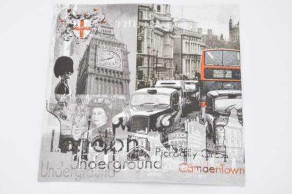 Serviette 3-lagig 33x33 cm, London