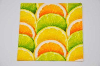 Serviette 3-lagig 25x25 cm, Orangen