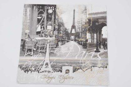 Serviette 3-lagig 33x33 cm, Paris