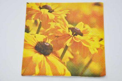 Serviette 3-lagig 33x33 cm, Sonnenblumen