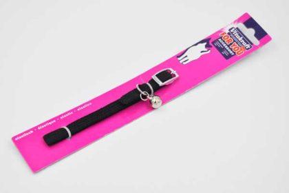 Vitakraft elastisches Nylon-Halsband für Katzen, mit Schelle, schwarzVitakraft elastisches Nylon-Halsband für Katzen, mit Schelle, schwarz