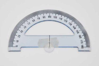 Winkelmesser 10cm, blau-transparent