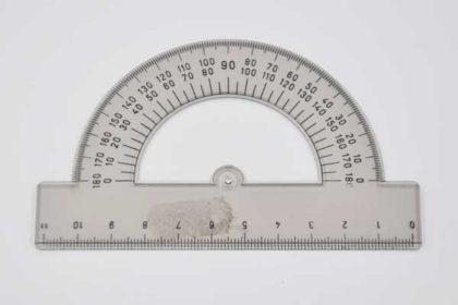 Winkelmesser 11cm, grau-transparent