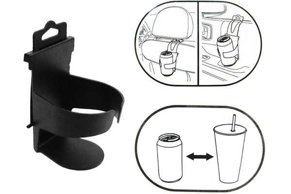 Getränkehalterung verstellbar für PKW/LKW, schwarz