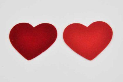 20 Stück Stoff-Herzen für Deko-, Bastelarbeiten oder Scrapbooking
