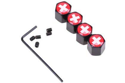 4 Stück Metall-Ventil-Sicherungs-Deckel Schweiz