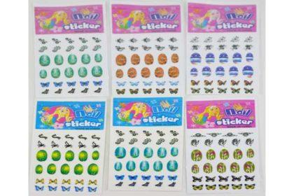 6 Pack Nail-Stickers mit unterschiedlichsten Motiven