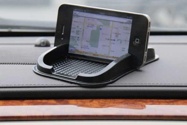 Smartphone-Halterung aus rutschfestem Gummi, schwarz