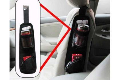 Fahrzeug-Organizer für den Auto-Sitz 37 x 11cm, schwarz