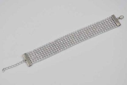 Fashion Armband mit kleinen weissen Kristallen, 22mm breit
