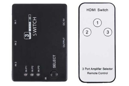 3-Port 1080P Video HDMI-Switch inkl. Fernbedienung