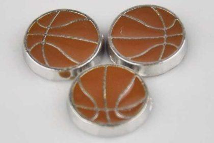 Metall-Charms Basketball - 3 Stück