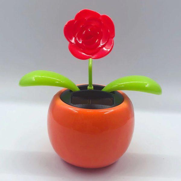 Solar-Tanzen-Blume-Lustige-Geschenk-orange