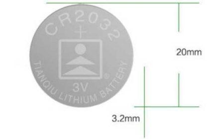 Button-Batterie Li-ion 3V CR2032 DL2032 ECR2032 5004LC