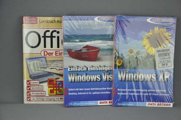 3 x Office und Windows Lernbücher